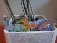 Marionnettes pour l'atelier-contes Nesha dans la Brousse