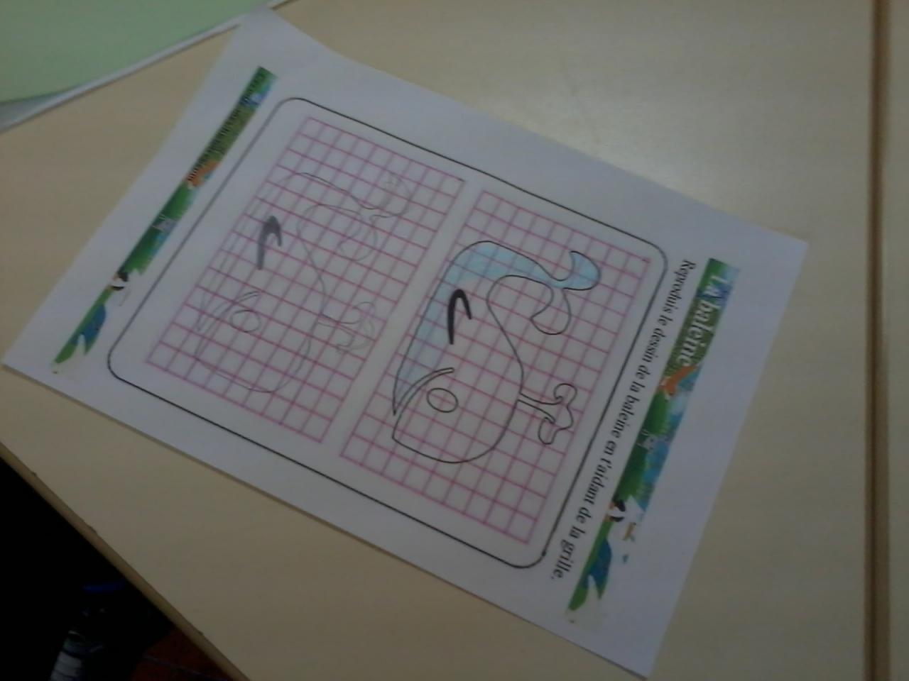 La baleine à dessiner dans Voilier Bleu