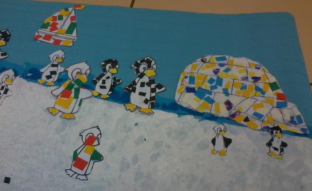 Pingouins sur la banquise
